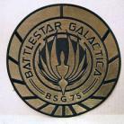 Battlestar Galactica BSG-75 Gold Foil Officer Logo 8inch Jacket Patch