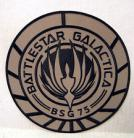 Battlestar Galactica BSG-75 Tan Logo 8inch Jacket Patch